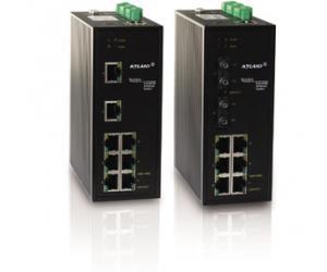 KIEN5000/KIEN6000 - Коммутатор управляемый Layer 2: 8 портов 100М, на Din-Rail