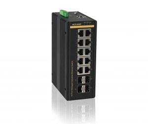 SICOM3014GV - Управляемый гигабитный коммутатор L2: 10GE+4GX портов, на Din-Rail
